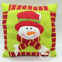 Wholesale hot sell Christmas ornament red colorful pillow christmas santa claus christmas indoor Christmas gift Decoration Supplies