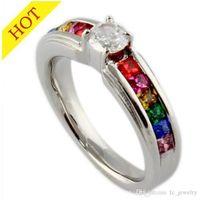 alternative diamonds - FC Alternative supply jewelry diamond jewelry gay rainbow ring titanium steel ring a generation of fat PR WNS