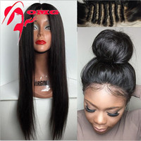 brazilian full lace wig - Full Lace Wigs Lace Front Wig For Black Women Human Hair Wigs Hot A Silk Straight Brazilian Virigin Hair Wig