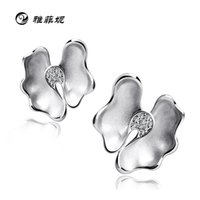 Wholesale Yafei Ni S925 sterling silver jewelry flower earrings elegant gesture Chinese style boutique sources Golden Age