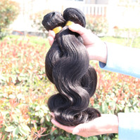 Wholesale Natural A inch Unprocessed Brazilian Human Hair Bundles Weave Malaysian Peruvian Indian Virgin Human Hair Weft Body Wave Extensions