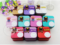 Favor Boxes Tins Square Korean Style Cute Lovely TEDDY BEAR Tin Candy Favors Holders wedding gift boxes sweet box baby shower candy boxes 6 color to choose