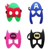 Wholesale New cartoon Superhero Avengers Teenage Mutant Ninja turtles felt masks Fashion felt goggles Felt toy Christmas Wedding party masks