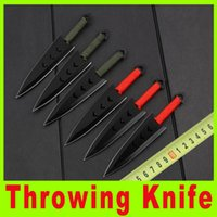 bag tie tool - 2015 new throwing knife diving knife Tied hand knife outdoor survival camping knives with nylon bag Camping Tactical Tools X
