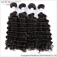 Peruvian Hair beauty wholesale products - Unprocessed Peruvian Virgin Curly Hair Peruvian Deep Wave Hair Weaving hot beauty hair product