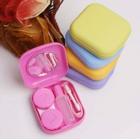 Wholesale High quality Cute Pocket Mini Contact Lenses Case Travel Kit Easy Carry Mirror Container Holder