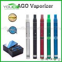 Cheap ago G5 dry herb vaporizer pen vapor cigarettes kits dry herb atomizer LCD Display Ago G5 pen E Cigarette wax herbal vaporizer