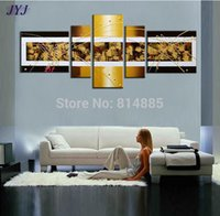 artists on line - Golden Line From Artist Handmade Modern Abstract Oil Painting On Canvas Wall Art Gifts Top Home Decoration Z073