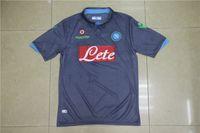 2014-15 Napoli camiseta de fútbol jersey azul oscuro de distancia logotipo bordado de primera calidad uniforme tailandia Fútbol, personalizar número nombre de orden de la mezcla