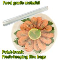 Wholesale Saran Wrap Cling film food grade material plastic Point break roll cm Fresh keeping membrane Cling film bags C132