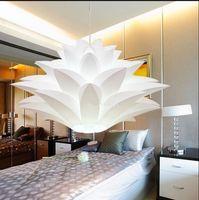 art material shop - Lily flowers lamp pendant light material of PVC CM lotus shape pendent DIY lampshade bedroom shops LED hanging light fixture