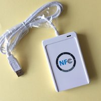 Wholesale USB Full Speed NFC Tat ACR122U A9 RFID Contactless Smart Card Reader Writer for Types of NFC ISO IEC18092 Tags