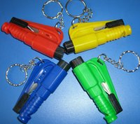 Wholesale 3 in Emergency Mini Safety Hammer Auto Car Window Glass Breaker Seat Belt Cutter Rescue Hammer Car Life saving Escape Tool