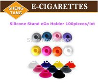 Wholesale In Stock pieces Silicone Stand eGo Holder for E Cigarette for eGo t eGo Q eGo vv battery one hole Available