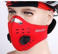 Wholesale Sport neoprene mask thermal fleece balaclava nose warmer half face ski mask super cool cycling mouth muffle dust mask windproof