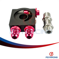 Wholesale PQY STORE Sandwich Plate with Rear Mounted Thermostat With AN10 fitting M20 And Oil Sandwich Adapter PQY5674BK