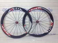 racing bicycle - Carbon wheels full carbon fiber road bike wheels mm rim bicycle wheelset C Carbon fiber Racing bicycle wheelset clincher tubular rim