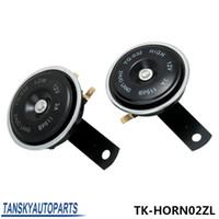 al por mayor 12v cuerno de la sirena del coche-Tansky - 2016 NUEVO 2PC universal de época de mayor a menor Dual Tone Twin Disc Klaxon Cuerno Sirena del coche Camión de Carga TK-HORN02ZL