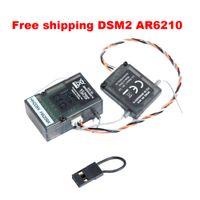 Wholesale Spektrum AR6210 DSM2 Ghz ch Satellite Receiver DSMX SPM9645 for DX6i DX7 DX8 helicopters quadcopter