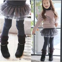 Wholesale Girls Tights Leggings For Kids Korean Girl Dress Autumn Winter Princess Lace Leggings Kids Pants Children Clothes Baby Clothing C15989