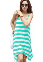 2015 donne Summer Dress O-Collo swimwear casuale Beach Dress Plus Size Vestito a righe 3 colori trasporto libero disponibile