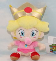 baby brother doll - New Super Mario Brothers Bros D World Cat Peach Princess Plush Doll Toys With Tag Baby Girl Gift Approx cm quot