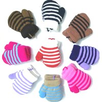 fleece gloves - 0 Years Thicken Warm Fleece Kids Children Baby Winter Warm Gloves Toddler Mittens Infant Knitted Gloves Baby Accessories Autumn
