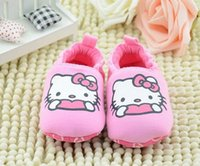 Wholesale 2014 NEW baby girls hello kitty toddler shoes kids girl high quality pink kitty shoes pieces ws