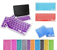 Wholesale Silicone Keyboard Skin Cover Film For Apple Macbook Pro Retina quot quot quot inch color Protector Cover for Mac book Air