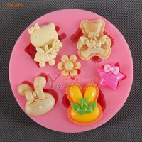 bakery molds - 2014 new product russia kitty cat silicone cake mold bakery tools cake bake mold cake baking tools silicone molds