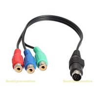Wholesale X7 Pin S Video to RCA RGB TV HDTV Adapter Cable for Laptop