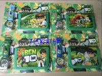 ben 10 - New arrival China Made Children s Digital Watches Cartoon Ben Wallet and Wristwatches sets Kids Birthday Christmas Gifts retail package