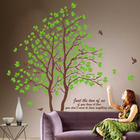 Wholesale Super large green tree wall Sticker wall decals art Wallpaper home decor bedroom living room decoration ZY698