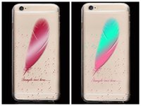beautiful colorful birds - Soft TPU Case For Iphone S Plus S I6S Fashion Feather Beautiful Clear Rainbow Bird Cute Colorful Transparent Back Skin Cover