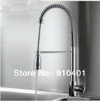 Wholesale And Retail Promotion NEW Luxury Deck Mounted Chrome Brass Kitchen Faucet Single Handle Sink Mixer Tap