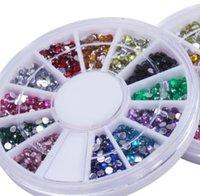 Wholesale High quality mm set Makeup Nail Rhinestones DIY Nail Art Tips Tools Decoration Wheels sets