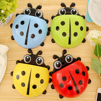 Wholesale 1pc Hot Selling Ladybug Suction Tooth Brush Holder Multicolor Choice Home Family Use