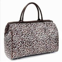 Wholesale New Women s Ladies Classic Leopard Large Capacity Canvas Casual Duffle Weekend Travel Bag Handbags