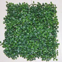 artificial grass mat - Artificial Grass plastic boxwood mat topiary tree Milan Grass for garden home Store wedding decoration Artificial Plants