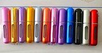 mini perfume atomizer - 600PCS ML Perfume Sprayer Travel Perfume Atomizer Perfume Bottle Mini Aluminum Spray Bottles With DHL Free L001 ML