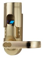electronic key door lock - ASSA ABLOY DIGI Digital Electronic Single Latch Biometric Fingerprint Keypad Door Lock Key lock knob Gold Right Lever handle
