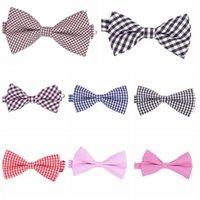 bowties - New arrive Bow tie Men Fashion grid check pre tie adjustable Tuxedo cotton bowtie mens party Bowties butterfly
