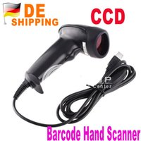 Wholesale DE Stock to DE Acan USB Barcode Hand Scanner CCD Long Cable Laser Bar Code Reader DHL Drop Shipping order lt no