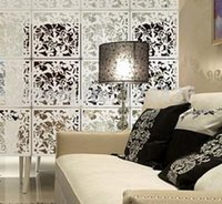 wall dividers - Modern Fashion contract Flower hanging Screen partition wall stickers room dividers hollowout home screen home decor