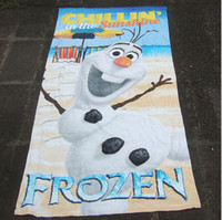 Wholesale Frozen Bath towel snow Romance olaf cute cartoon beach towel cotton big towel cm Children s Towels