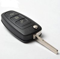 Wholesale Hot Button Brand New Folding Flip Remote Car Key For FORD Focus MHZ WITH D63 chip and LOGO