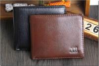 Wholesale 2015 New Vintage Men s Wallet Fine Bifold Brown PU Leather Money Purse Wallet Wallet For Men