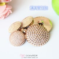 access rounding - 15mm Gold jewel snap buttons NewTone Gypsophila Acrylic antique round shirt Cabochon Buttons Cardigan Sweater buckle scrapbook sewing access