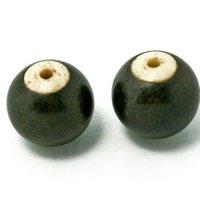 Wholesale 100pcs High Quality Wooden Beads mm mm Round Shape Natural Black Sandalwood Ebony Wood With Bone Loose Spacer Beads for Bracelet