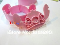 bakery muffins - sets pc Mould for Stitch Shape Pink Muffin Jelly Ice Plasic Mold Baking Tools for cookie bakery tool